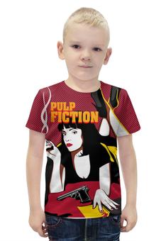 """Футболка с полной запечаткой для мальчиков """"Pulp Fiction"""" - tarantino, тарантино, криминальное чтиво, pulp fiction, арт дизайн"""