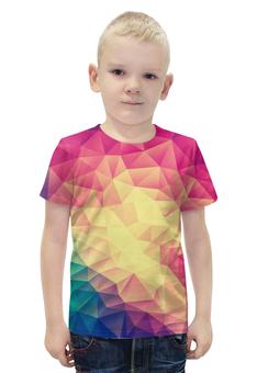 """Футболка с полной запечаткой для мальчиков """"Яркая геометрия"""" - стиль, яркие, геометрия, треугольники"""