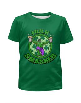 """Футболка с полной запечаткой для мальчиков """"Hulk """" - юмор, пародия, комиксы, супергерой, халк"""