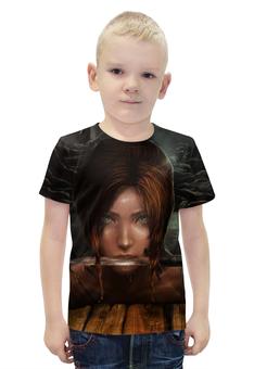 """Футболка с полной запечаткой для мальчиков """"Лара Крофт (Tomb Raider)"""" - tomb raider, лара крофт"""