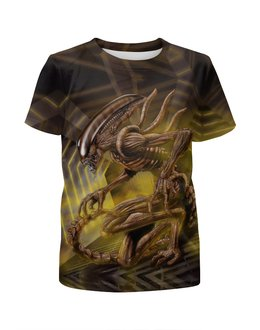 """Футболка с полной запечаткой для мальчиков """"Alien \ Чужой"""" - инопланетянин, фантастика, чужой, пришелец"""