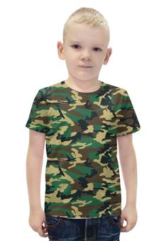 """Футболка с полной запечаткой для мальчиков """"Woodland Style"""" - style, армия, army, камуфляж, camo"""