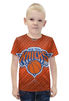 """Футболка с полной запечаткой для мальчиков """"Нью-Йорк Никс"""" - nba, нба, new york knicks"""