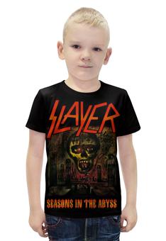 "Футболка с полной запечаткой для мальчиков ""Slayer Season In The Abyss 1990"" - музыка, рок, металл, slayer, thrash metal"