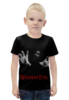 """Футболка с полной запечаткой для мальчиков """"Resident Evil"""" - игра, геймер, resident evil, umbrella, re"""