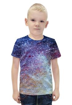 """Футболка с полной запечаткой для мальчиков """"Пояс Ориона"""" - арт, звезды, космос, вселенная"""