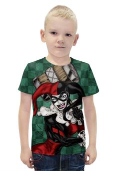 """Футболка с полной запечаткой для мальчиков """"Харли Квинн / Harley Quinn"""" - комикс, рисунок, джокер, бэтмен, харли квинн"""