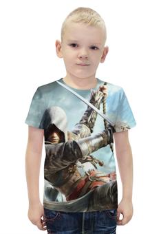 """Футболка с полной запечаткой для мальчиков """"Кредо ассасина (Assassin's Creed)"""" - assassins creed, black flag, кредо ассасина"""