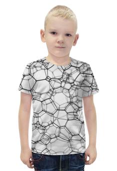 """Футболка с полной запечаткой для мальчиков """"Пузыри 3D"""" - 3d, пузыри"""