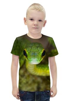 """Футболка с полной запечаткой для мальчиков """"Ядовитая змея"""" - змея"""