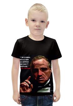 """Футболка с полной запечаткой для мальчиков """"Дон Корлеоне"""" - мафия, аль пачино, актеры, брандо, дениро"""