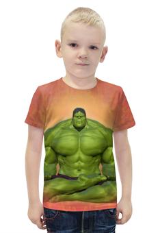 """Футболка с полной запечаткой для мальчиков """"Халк / Hulk"""" - рисунок, марвел, халк"""
