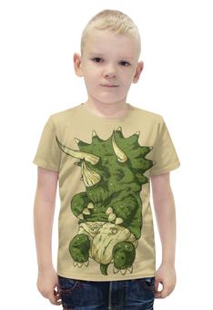"""Футболка с полной запечаткой для мальчиков """"DINO Baby / Малыш Динозавр"""" - дети, семья, динозавр, ребенок"""