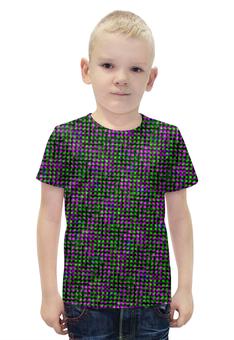 """Футболка с полной запечаткой для мальчиков """"glitch art (матрица)"""" - матрица, glitch art, пикселы, wax, глитч"""