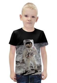 """Футболка с полной запечаткой для мальчиков """"Астронавт"""" - космос, луна, moon, астронавт, космонавт"""