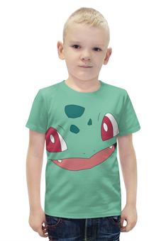 """Футболка с полной запечаткой для мальчиков """"Бульбазавр"""" - нинтендо, pokemon, bulbasaur, покемон го"""