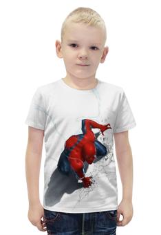 """Футболка с полной запечаткой для мальчиков """"Марвел Человек-Паук"""" - комиксы, герои, марвел, человек-паук"""