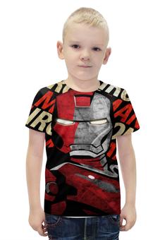 """Футболка с полной запечаткой для мальчиков """"Iron Man"""" - супергерой, marvel, железный человек, iron man, тони старк"""