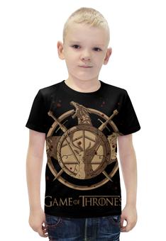 """Футболка с полной запечаткой для мальчиков """"Игра престолов / Game of Thrones"""" - рисунок, кино, сериал, игра престолов"""