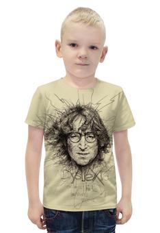 "Футболка с полной запечаткой для мальчиков ""John Lennon (The Beatles)"" - музыка, the beatles, битлз, джон леннон, jonh lennon"