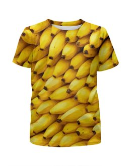 """Футболка с полной запечаткой для мальчиков """"Бананы 3D"""" - еда, фрукты, бананы, пища"""