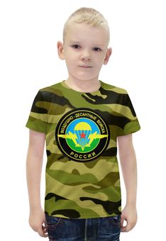 """Футболка с полной запечаткой для мальчиков """"Воздушно-Десантные Войска"""" - 23 февраля, армия, вдв, десант"""