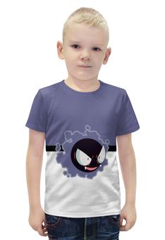 """Футболка с полной запечаткой для мальчиков """"PoKeMon Gastly"""" - pokemon, покемон, gastly, гастли"""