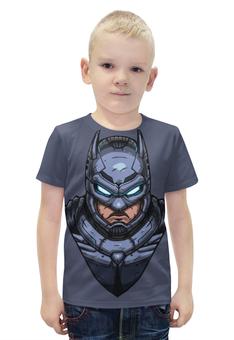 """Футболка с полной запечаткой для мальчиков """"Armored Batman / Бэтмен в Броне"""" - арт, batman, бэтмен, armored batman, бэтмен в броне"""