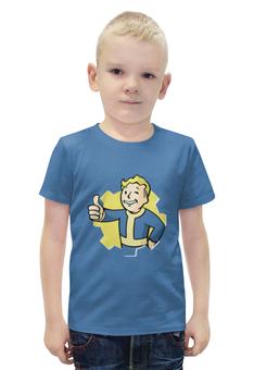 """Футболка с полной запечаткой для мальчиков """"Vault Boy"""" - fallout, vault boy, vault, убежище, pipboy"""