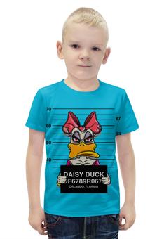 """Футболка с полной запечаткой для мальчиков """"Мультфильмы Диснея, Арт"""" - арт, дисней, мультсериал, дейзи дак, daisy duck"""