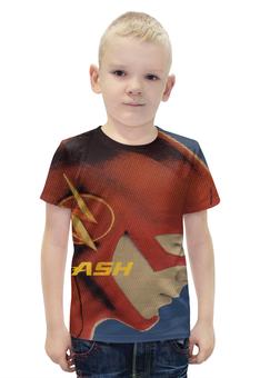 """Футболка с полной запечаткой для мальчиков """"the flash"""" - принт флэш flash"""