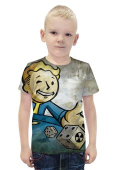 """Футболка с полной запечаткой для мальчиков """"Vaultboy Fallout"""" - fallout, vaultboy, vault, falloutboy"""
