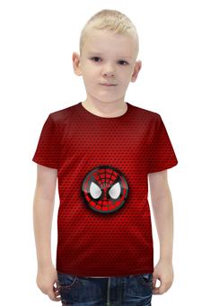"""Футболка с полной запечаткой для мальчиков """"Человек-паук"""" - spider-man, человек-паук, питер паркер"""