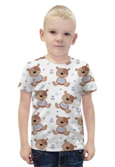 """Футболка с полной запечаткой для мальчиков """"Cute Teddy"""" - мишка, тедди, teddy, мишка тедди"""