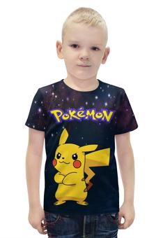 """Футболка с полной запечаткой для мальчиков """"Покемон Пикачу"""" - pokemon, покемон, пикачу, pikachu"""