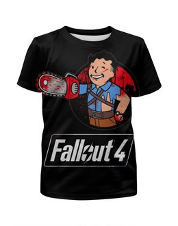 "Футболка с полной запечаткой для мальчиков ""Fallout 4"" - игра, game, fallout, фаллоут, fallout4"