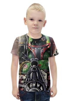 """Футболка с полной запечаткой для мальчиков """"Star Wars Boba Fett"""" - фантастика, star wars, звездные войны, boba fett, боба фетт"""