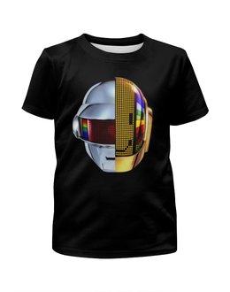 """Футболка с полной запечаткой для мальчиков """"Daft Punk"""" - музыка, хаус, электроника, daft punk, дафт панк"""