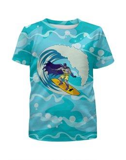 """Футболка с полной запечаткой для мальчиков """"Бэтмен (Batman)"""" - лето, море, batman, волны, сёрфинг"""