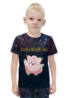 """Футболка с полной запечаткой для мальчиков """"PoKeMon Clefairy"""" - фея, pokemon, покемон, клефейри, clefairy"""