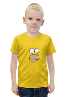 """Футболка с полной запечаткой для мальчиков """"Гомер и пончик"""" - simpsons, симпсоны, кофе, пончики"""