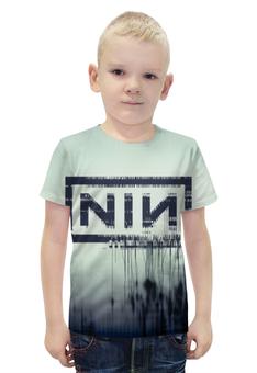 """Футболка с полной запечаткой для мальчиков """"Nine Inch Nails With Teeth"""" - музыка, рок, индастриал, nine inch nails, with teeth"""