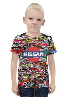 """Футболка с полной запечаткой для мальчиков """"Nissan_ARSB"""" - авто, марка, ниссан, арс"""