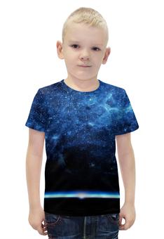 """Футболка с полной запечаткой для мальчиков """"Космос 3D"""" - space, космос, 3d"""