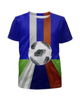 """Футболка с полной запечаткой для мальчиков """"SOCCER Design"""" - футбол, россия, символика, чемпионат, мяч"""