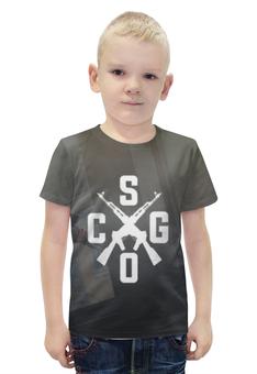 """Футболка с полной запечаткой для мальчиков """"CS:GO"""" - cs, автомат, counter-strike"""