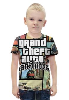 "Футболка с полной запечаткой для мальчиков ""Grand Theft Auto San Andreas"" - grand theft auto, gta, гта, gta sa, san andreas"
