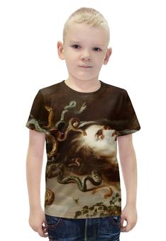 """Футболка с полной запечаткой для мальчиков """"Голова Медузы (Рубенс)"""" - змеи, голова медузы, рубенс"""