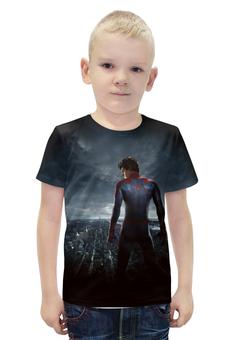 """Футболка с полной запечаткой для мальчиков """"Spider-Man"""" - комиксы, герой, человек паук, марвел"""
