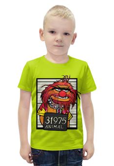 """Футболка с полной запечаткой для мальчиков """"Animal """" - пародия"""